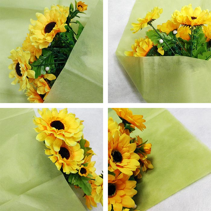PET nonwoven flower packing